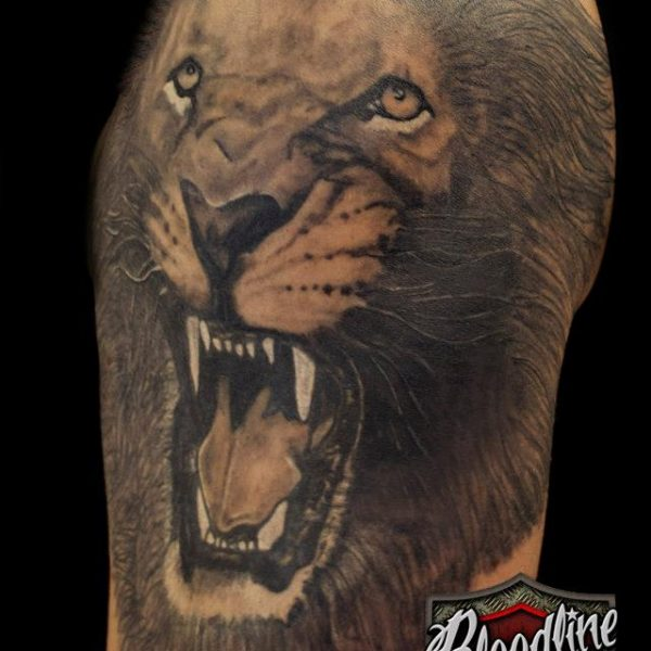 Lion by Bram@bloodlineTattoo.nl