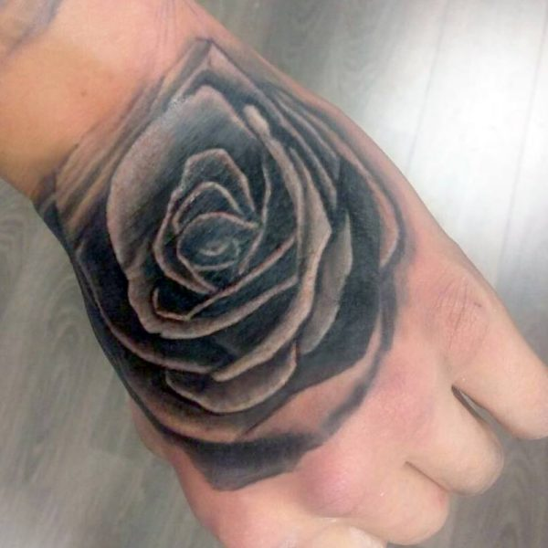 Rose hand by Bram@bloodlineTattoo.nl