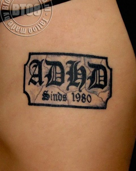 ADHD by Bram@bloodlineTattoo.nl