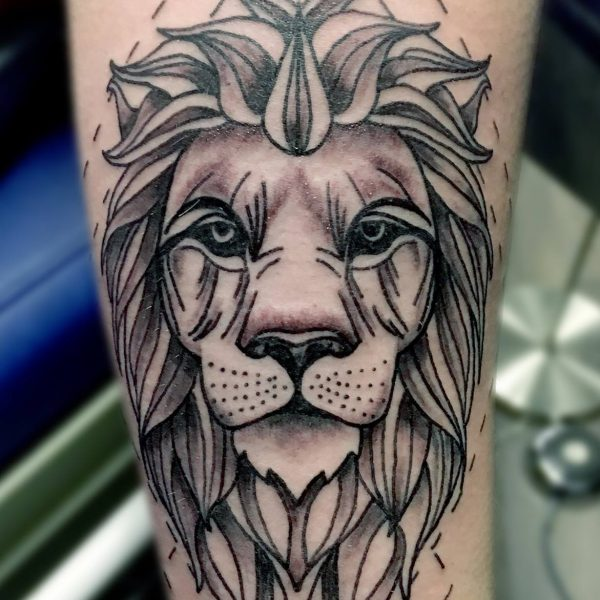 Lion3 by Bram@bloodlineTattoo.nl
